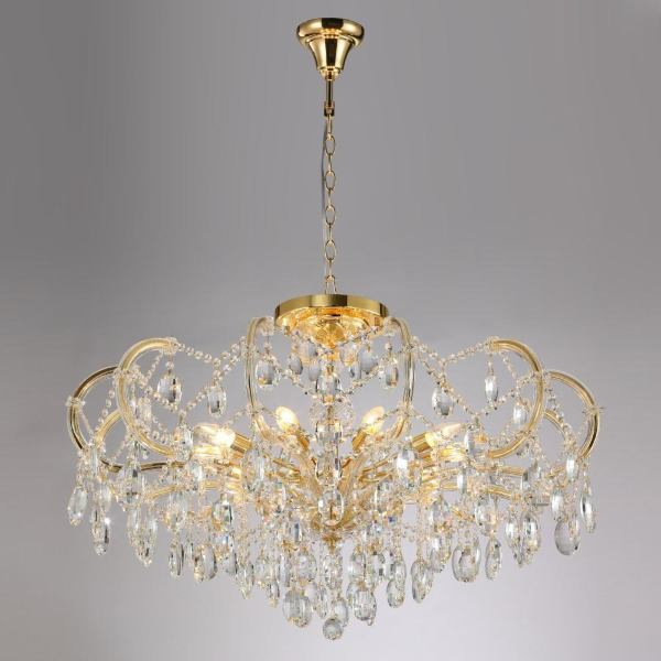 Подвесная люстра Crystal Lux Hollywood SP-PL10 Gold D1000